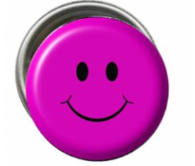 Smiley Pembe Rozet