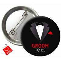 Groom To Be Metal Rozet